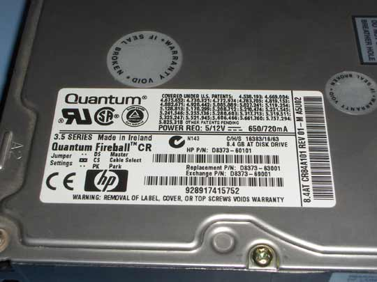Quantum Fireball 8.4 GB
