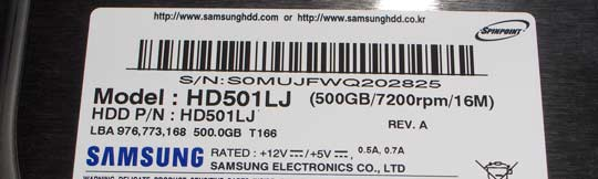Samsung SpinPoint T166