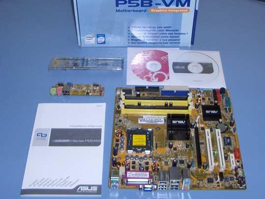 Asus P5B-VM bundle