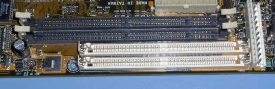 EDO SDRAM slots