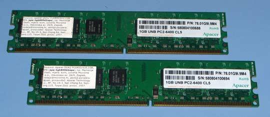 Apacher 2x1GB DDR2 800MHz