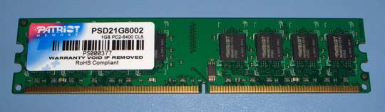 patriot 1gb ddr2 800mhz