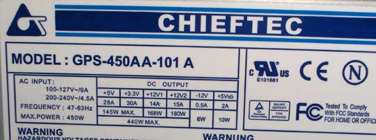 Chieftec GPS-450AA-101A