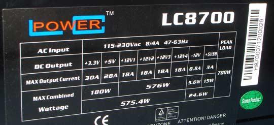 lc power 700 w