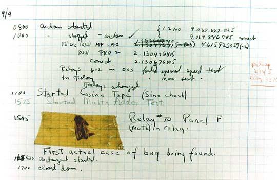 prvi raèunalni bug